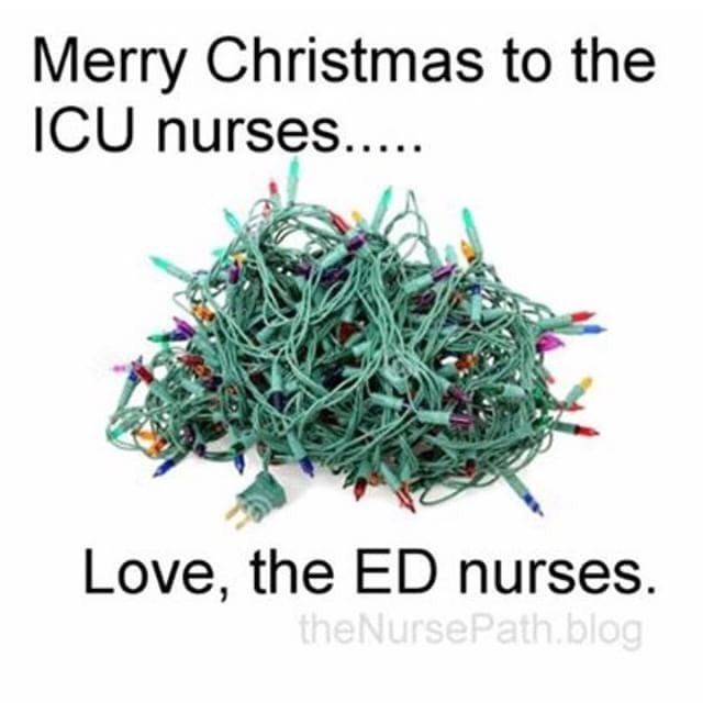 For those that find this post insulting: This is a play mostly on how particular most ICU nurses are (aka ME!) Im making fun of myself and I love all my ED friends and appreciate them for all the craziness they deal with. 24 hour job. ❤️