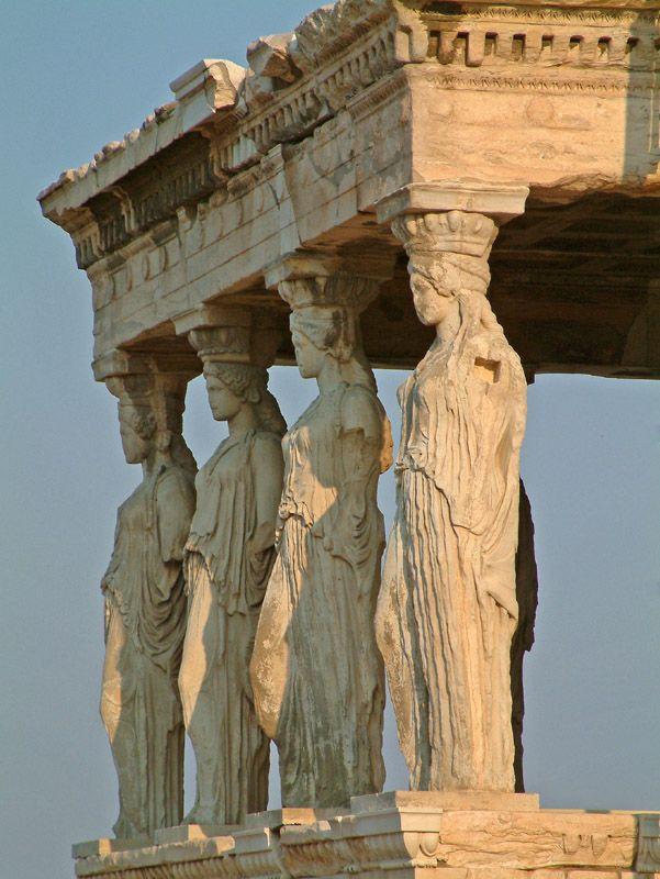Karyatides, Akropolis, Greece
