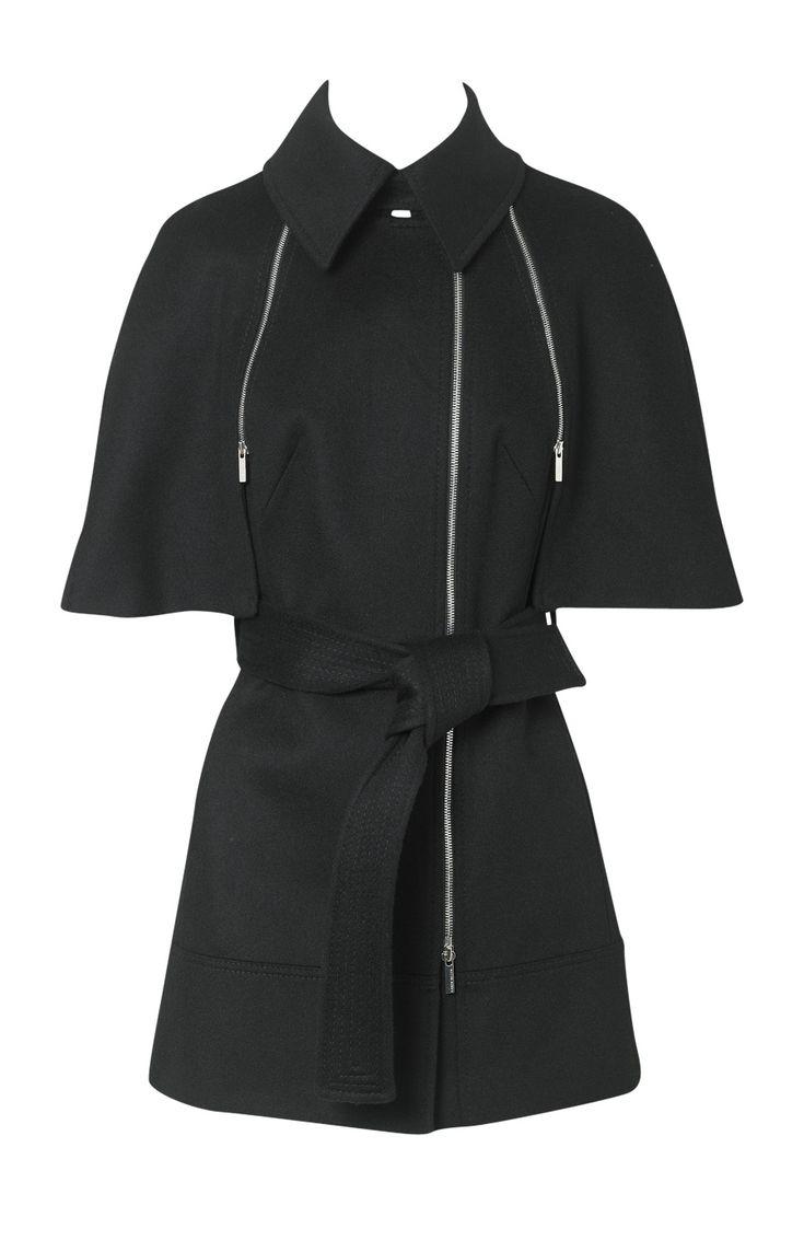 Karen Millen Cape Coat Black