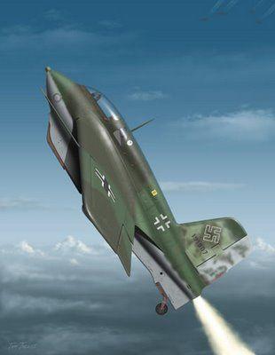 the early WWII German rocket plane - Messerschmitt Me-163 Komet