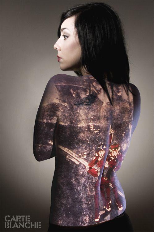 Japanese tattoos of naked girl