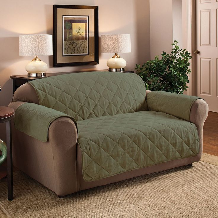 Innovative Textile Solutions Suede Sofa Protector, Green