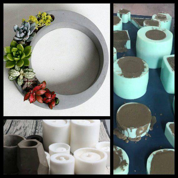 DIY Baking Mold Succulent Plants Flower Pot Shape Fondant Mold Cake Decor SH