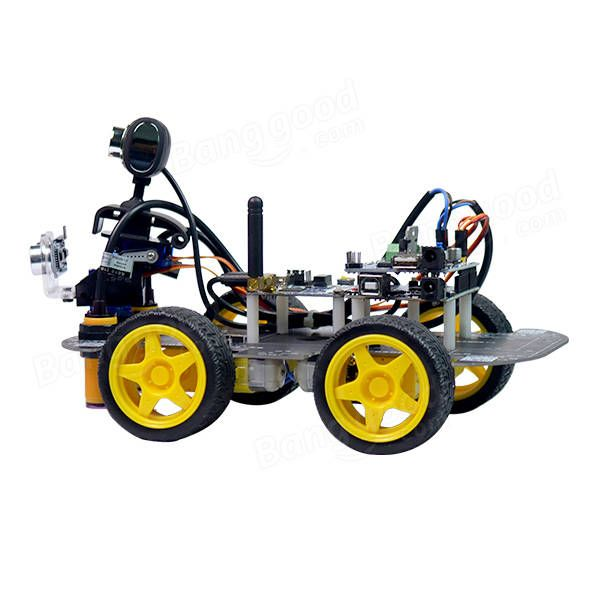 Xiao R DIY Smart Robot Wifi Video Control Car with Camera Gimbal Arduino UNO R3 Board Sale - Banggood.com  electronics gadgets