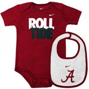 Alabama Crimson Tide Baby Apparel, Creeper, Onsie, Sleeper, Bib Bootie Set