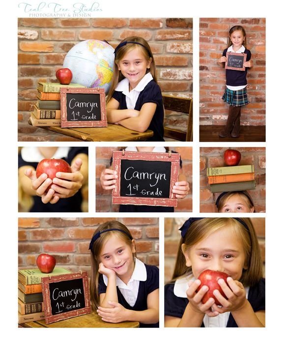 Kids Back to School Portrait ideas because school photos are way too expensive!