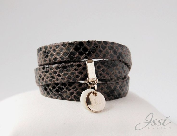 GREY SNAKE BELT (proj. Issi design), leather bracelet