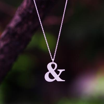 Sterling Silver Necklace - Ampersand Necklace. $60.00, via Etsy.