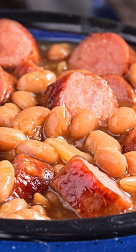 Franks And Beans - slow cooker - add chopped onion - original recipe link:  http://www.kraftrecipes.com/recipes/awesome-slow-cooker-franks-beans-144939.aspx