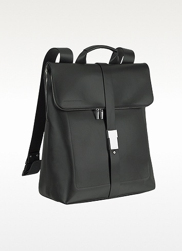 Porsche Design Black Leather Zippered Backpack | FORZIERI