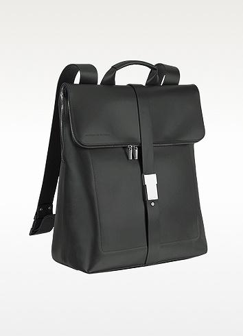 Porsche Design Black Leather Zippered Backpack | FORZIERI