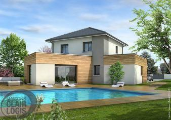 Laissez-vous séduire par les belles lignes de cette maison moderne à étage. Traditionnel et contemporain s'allient parfaitement pour former un beau modèle de maison.