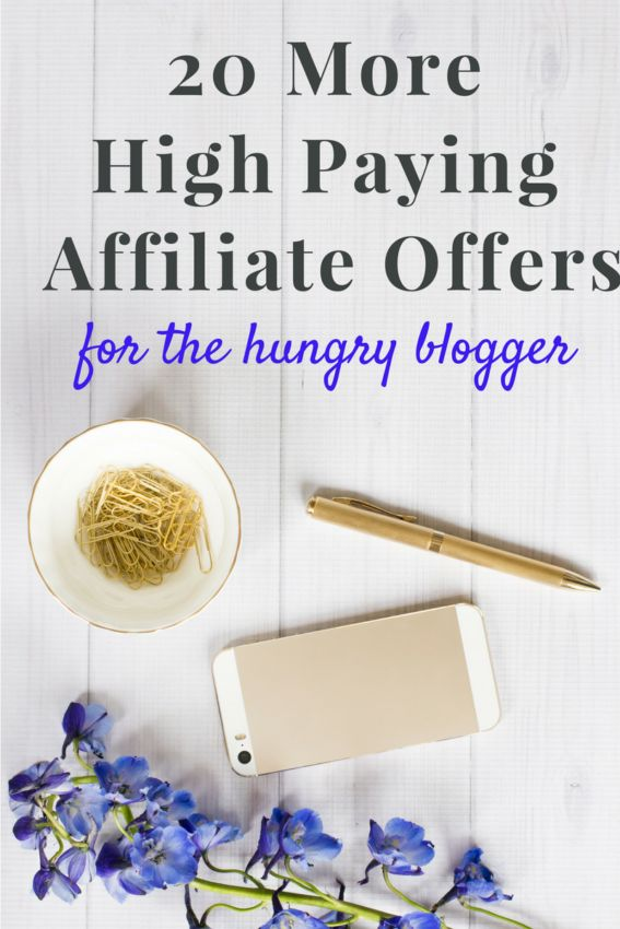 20 more high paying affiliate offers for the hungry blogger! Hey bloggers, don't miss this super list!