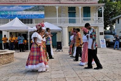 Folk group dancing a quadrille,Frederiksted,St. Croix island,US Virgin Islands,USA