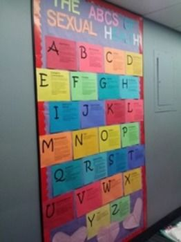 This bulletin board is a fun way to engage students in some quick sexual health education as well as getting some key vocabulary into students mind.