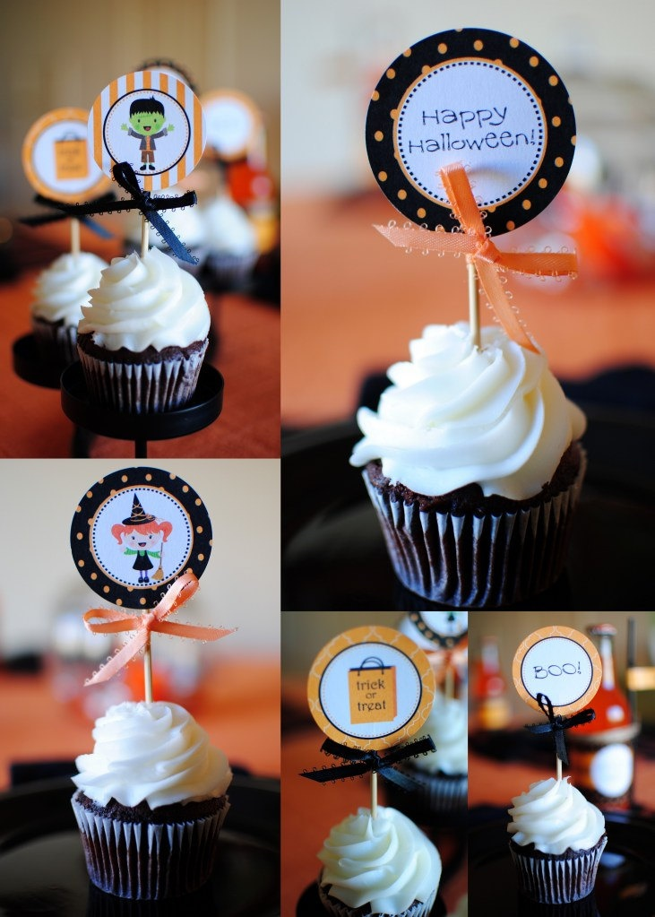 PRINTABLE Halloween cupcake toppers by Twinkle Twinkle Little Party