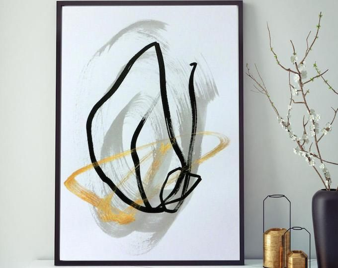 Tableau Peinture Abstraite Dore Art Abstrait Tableau Abstrait Noir Blanc Or Gris Peinture Moderne Minimaliste Grande Giclee Art Contemporain Peinture Abstraite Art Abstrait Tableau Abstrait
