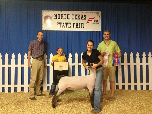 North Texas State Fair Association, Inc. - Brittany Beggs Reserve Grand Champion Lamb ring B