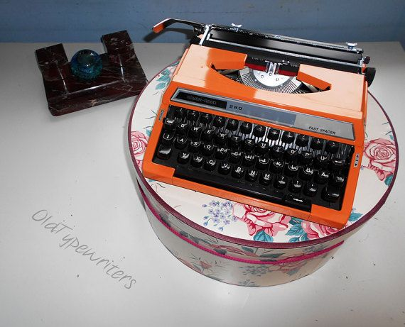 Easter Sale  20% // Working typewriter  orange by OldTypewriters
