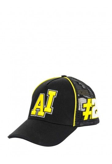 #Iannone Trucker Cap 29. Black Cap with yellow insert. On front is embroidered the letters AI and the number 29 of Andrea Iannone. On back the Maniac logo. #ai29 #andreaiannone