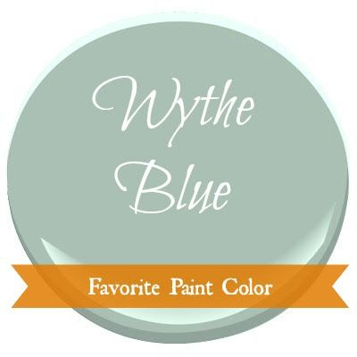 Postcards from the Ridge: Favorite Paint Color ~ Benjamin Moore Wythe Blue