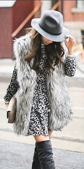 How to style your faux fur vest                                                                                                                                                                                 More