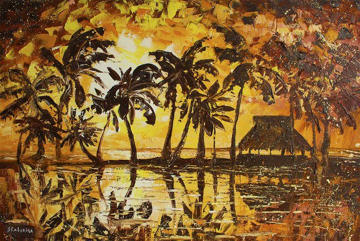 Sunset Beach — Large Beach Painting