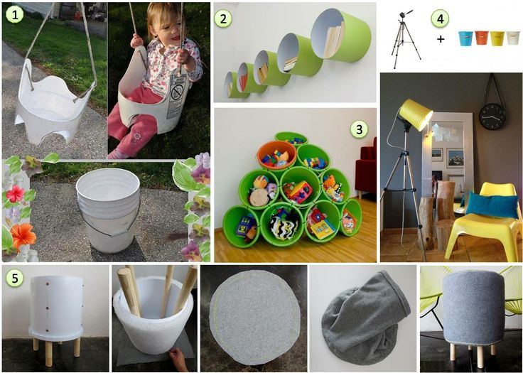 5 ideas para decorar reutilizando baldes de pintura hamaca para bebes 1 una librer a 2 - Decorar madera con pintura ...
