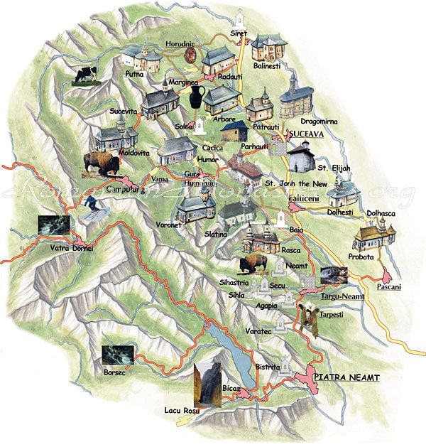 #Bucovina Painted Monasteries Map