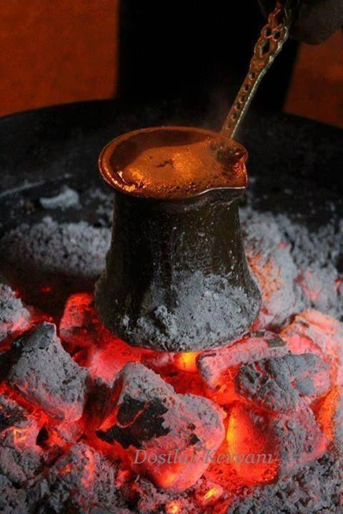 Türk Kahvesi....Mangal ateşinde...