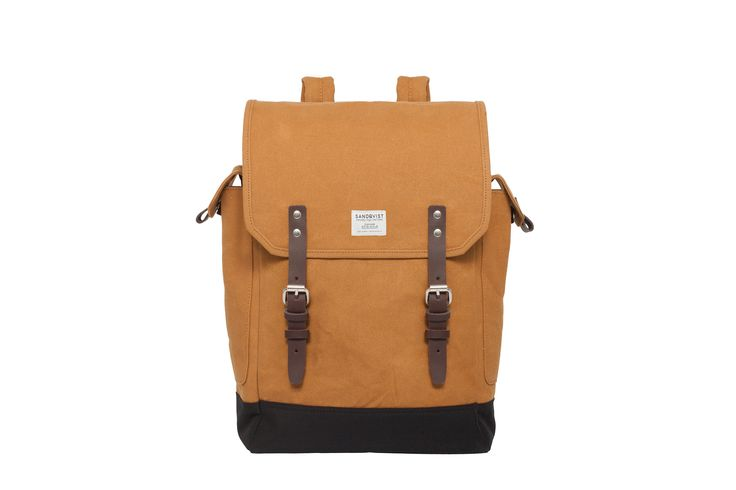 """BOB - WAXED CANVAS  """"This Sandqvist backpack is great because I often travel during weekends and a backpack this size would suffice. Also love the bold mustard/khaki colour and those leather buckles too!"""" - Candice, LOVESPACE's Partnerships Team"""