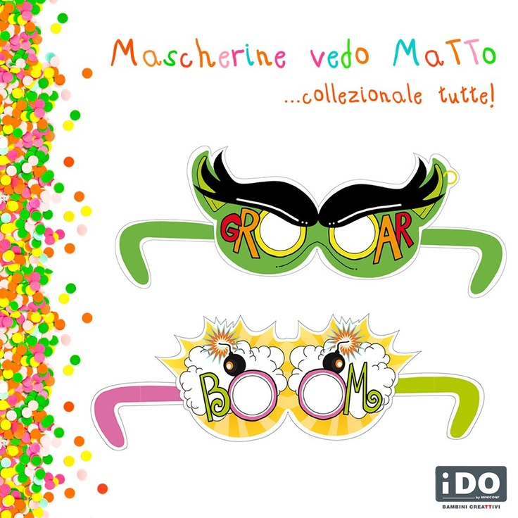 Puntata n°3 del Carnevale fai da te iDO... ecco le Mascherine vedo MaTTo, fantastici occhiali fumettosi e colorati! Scaricale subito...