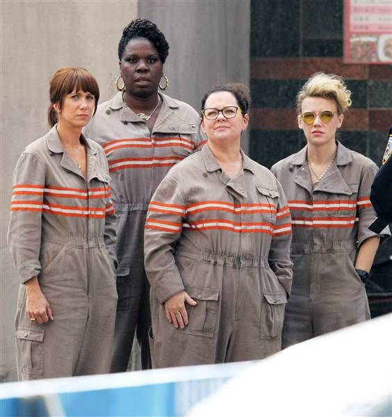 'Ghostbusters' women get suited up in first cast photo Ghostbusters  #Ghostbusters
