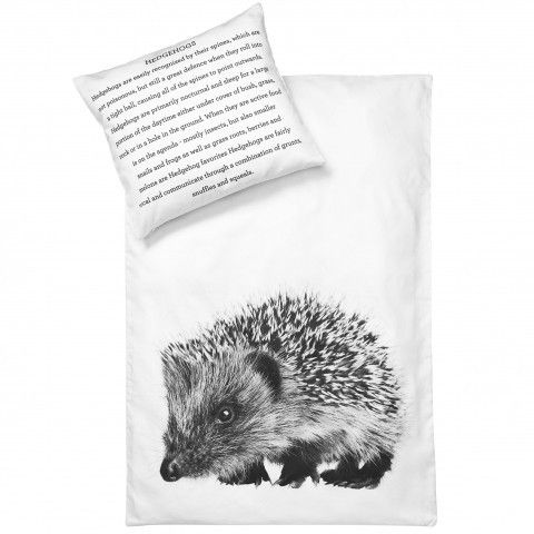 30% Off! BY NORD Baby Bedlinen Hedgehog Duvet and Pillow Cover Set