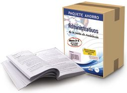 Paquete Ahorro de Administrativo (contiene Temarios volumen I, II, III, IV y Test).