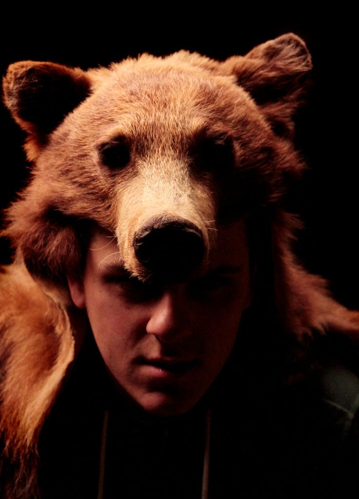 Real Cinnamon Black Bear Headdress. $860.00, via Etsy.