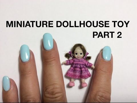 MINIATURE TUTORIAL - Dollhouse toy dolly with pacifier PART 2 - DIY VIDEO - YouTube