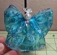 Happybird's Crafting Haven: Make ANOTHER Simple, Beautiful Wired Ribbon Angel!