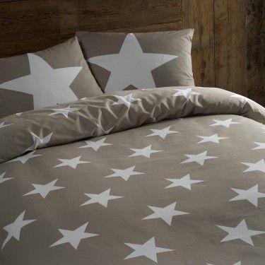 Dekbed Daydream Stars, Flanel, grijs, Bedsupply.eu (€24,95)