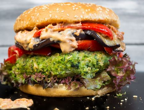 Hamburguesa verde   #Receta de cocina   #Vegana - Vegetariana ecoagricultor.com