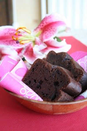 Gâteau au chocolat et tofu soyeux (sans beurre).