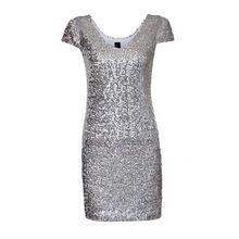 Kadınlar seksi V Yaka payetli elbise kısa kollu artı boyutu sıcak kulübü Vestidos femininos casual slim mini şerit siyah elbise QZ2239(China (Mainland))