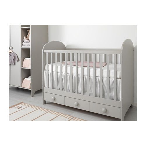 stunning ikea gonatt cot light grey cm the cot base can be placed at two different heights with. Black Bedroom Furniture Sets. Home Design Ideas