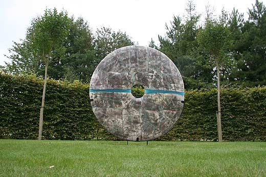 Peter Hayes - six foot raku disc