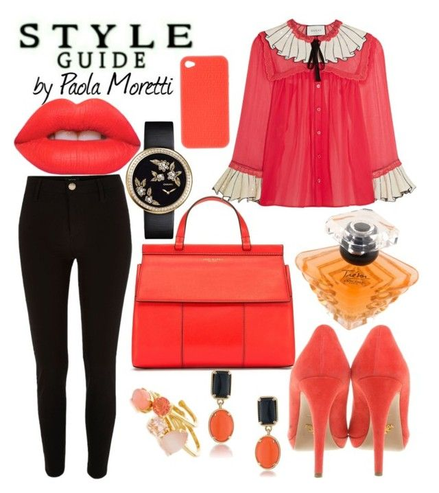 """Style Guide #10 by Paola Moretti"" by paola-moretti on Polyvore featuring Tory Burch, Gucci, River Island, Prada, Fendi, Chanel, Lime Crime, Lancôme, 1st & Gorgeous by Carolee and Kate Spade"