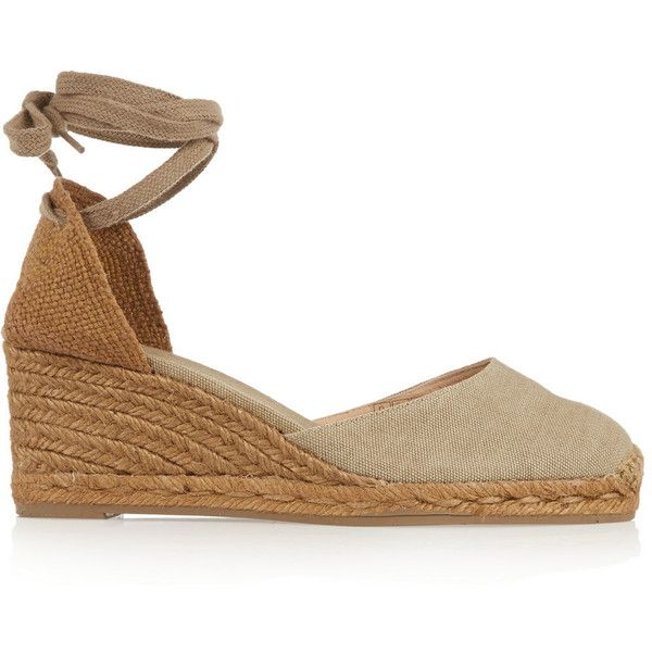 Castañer Carina canvas wedge espadrilles (470 RON) ❤ liked on Polyvore