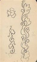 A suite of drawings suite of 11, various sizes by Thorvald Bindesboll