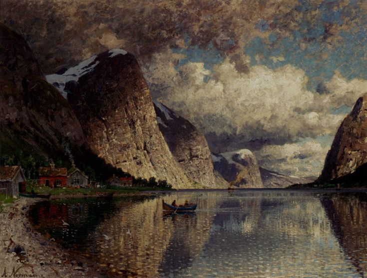 Adelsteen Normann - Cloudy day on a fjord