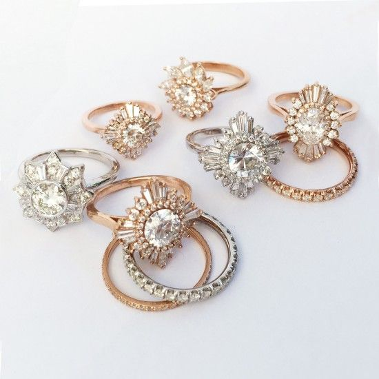 Marry Me, Today and Every Day. | Bohemian Engagement Rings / Floral Motifs www.thelane.com