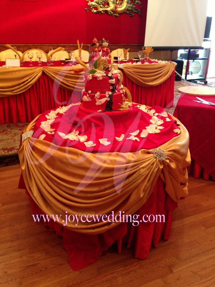 17 best images about cake table decoration on pinterest for Red decoration for wedding